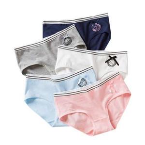 1pc / lot Pantaloni in pizzo per adolescenti Mutande Slip per ragazza floreale Colori caramelle per ragazze Mutandine corte Intimo per bambini 9-20 anni