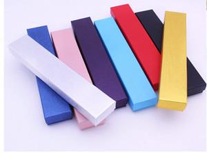 NUEVOS COLORES SÓLIDOS elegantes 21.5 * 4 * 2.5cm collar de la pulsera del caso de exhibición de almacenamiento de joyería caja de embalaje caja de regalo