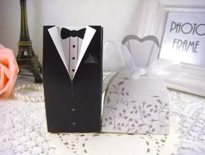 도매 500pcs (250pairs) 신부 신랑 웨딩 호의 상자 사탕 상자 웨딩 신부 부탁 웨딩 선물 상자