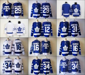 Whoelsale2019 Toronto Maple Leafs 34 Auston Matthews 16 Mitchell Marner 29 William Nylander 12 Patrick Marleau Andersen 라일리 아레나스 저지