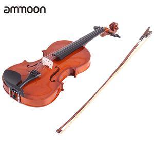 venta al por mayor 3/4 Cuerda Acústica Natural Acústica de Violín Acrílico Cuerda con Arbor Arco instrumento de cuerda para Amantes de la Música