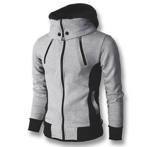 2017 Hommes Hoodies Sweatshirts Manteaux À Capuche Vestes Hommes de Mode Casual Slim Fit Hoodies Zipper Manteau Sudaderas Hombre Sportswear