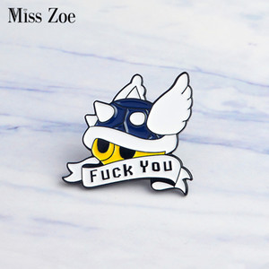 Miss Zoe Coquille Mario Kart Émail Pin Lapel Comics icônes du jeu vidéo Pins Badge Bouton épingle Denim manteau Punk Dark Broches Cadeau