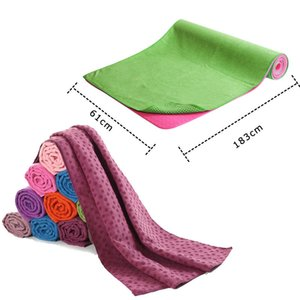 Wholesale-Non Slip Yoga Mat Cover Towel Blanket Sport Fitness Exercise Pilates Workout HOT