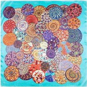 Cópia quadrada Scarf Mulheres Foulard Femme Echarpe grandes de seda vermelho Bandana Cachecóis For Ladies Wholeshale 90 * 90CM