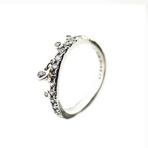gros nouveau printemps Chandelier Goutte anneaux 925 mariage en argent sterling Bague Zircon pour les femmes des hommes d'origine de anillos de bijoux fins