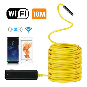10 Meters Semi-Rigid Flexible Wireless Endoscope IP67 Waterproof WiFi Borescope 2MP HD Resolutions Inspection Camera Free APP