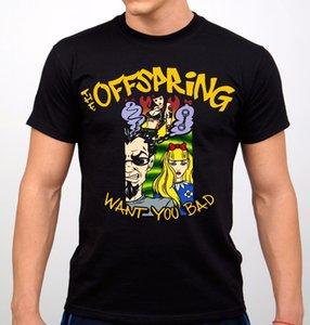 The Offspring Rock Band T Shirt Negro Nueva Moda Única Clásico de Algodón Hombres Top Tee Imprimir Camiseta Estilo de Verano Caliente Más Tamaño