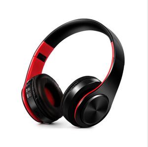 Горячая многоцветный складной Беспроводная Bluetooth-гарнитура над головой оголовье шумоподавления наушники музыка спорт с высоким качеством стерео звук