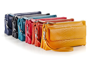 NEW Women's Genuine Leather Crossbody Purse Shoulder bag Cellphone Pouch Purse Wristlet Wallet Clutch with Shoulder Strap and Wrist Strap
