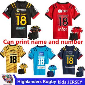 2018 Highlanders Super Rugby kids 저지 뉴질랜드 Super Rugby Union Highlanders 고온 럭비 셔츠 크기 18-20-22-24-26-28