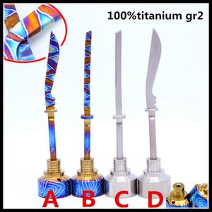 2018 Cor Rainbow New Color Espada Titanium Carb Cap Cigarette Wax Espada Ferramenta Dabber para diferentes Unhas De Quartzo Mais novo vidro tubulações de água dab
