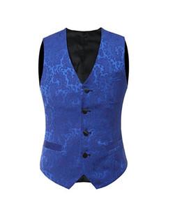 2019 королевский синий кружевной жилет жилеты британский стиль мужской костюм жилетки Slim Fit мужское платье жилет свадебный жилет Большой размер красный черный белый