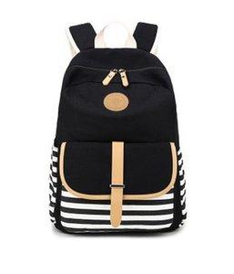 2019 Limited School Bags Navy Stripes Backpack, The New Canvas Bag, Students Backpack Bag. Tela de alta calidad. Super Gran Espacio Práctico.