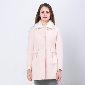 BIBOYAMALL Giacche invernali da donna e cappotti Single Button Elegant Warm Coat Women Cappotto in lana 2018 Thicken Women Jacket