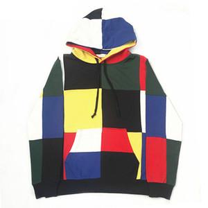 Giacche da uomoPatchwork T Shirt con cappuccio Hip Hop Streetwear 2018 3D Print Casual Pullover da donna Tops Autunno Regular Hipster
