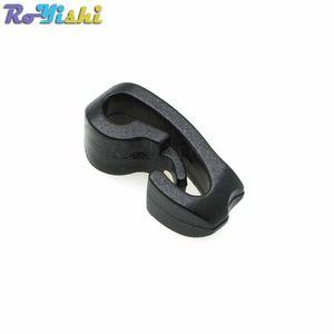 100 unids / lote Exterior Fleje Cuerda Cuerda de Plástico Cuerda Hebilla Negro