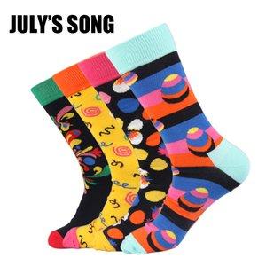 JUILLET SONG Happy chaussettes hommes drôle chaussettes taille de l'UE 8-12 US taille 40-46 coton équipage