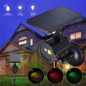 Solar Noël Light pelouse Lampe de pelouse d'extérieur étanche Spotlight Laser Lumières de projecteur pour jardin de jardin Décoration de paysage