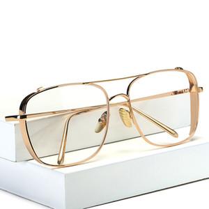 Дизайнерские очки для мужчин Мода Большие оправы для очков Мужские прозрачные очки Рамки для женщин Классическая оптическая оправа