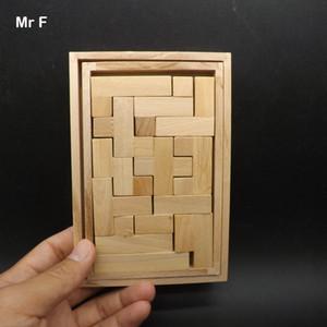 Jouets Pour Enfants Original En Bois Puzzle Tetris Jeu D'assemblée Brian Teaser Mind Gadget Intelligence Jeu Jouets Pour Enfants