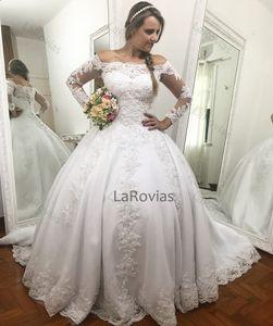 2021 Wedding Dress Off The Shoulder Sleeves Bridal Gown Bride Wear Dress For Bride