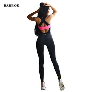 Barbok fitness macacão de yoga corpo stretch macacão para bebês crossfit treino gym mulheres correndo apertado sexy esportes underwear