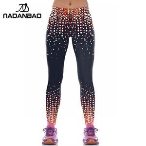 All'ingrosso-NADANBAO Brand New arrivo leggings sportivi Pantaloni sportivi cielo stellato 3D Spot stampato Mujer Compression Leggins Pantaloni