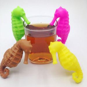 2018 Sea Horse Shaped Teebeutel Siebe Filter Tee-Ei Silikon Cute Hippocampus Teebeutel Für Tee Kaffee Candy Drinkware Sieb