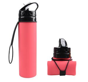 Außenreit Silikon Wasserbeutel bewegliche zusammenklappbare Wasserschale neue 600ml individuelle Werbegeschenk Sportflasche
