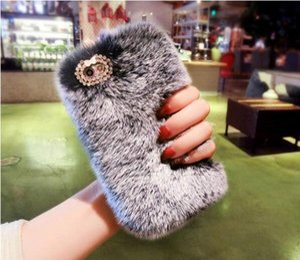 Горячая Оптовая продажа новый Bling Кольцо держатель стенд Алмаз теплый мех кролика пушистый чехол для Sumaung iPhone