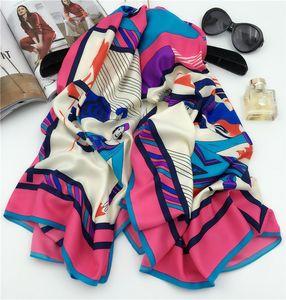 Hot Women Head Neck Nuova cravatta classica raso di seta Sciarpa a scialle Wrap Kerchief 130 * 130cm Square Sciarpe a scialle Wraps Hijbas Pashmina neckwarm
