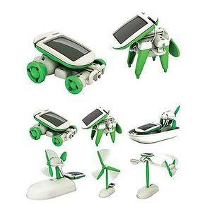 Nuovo caldo 6-in-1 Power Solar Transformation Robot giocattolo fai da te Batteria solare trasformato educativo regalo di apprendimento per bambini bambino