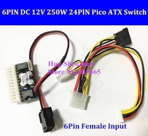 NEW PCI-E 6pin female Input DC-ATX-250W 24pin Power Supply Module Swithc Pico PSU Car Auto Mini ITX High DC-ATX power module ITX Z1