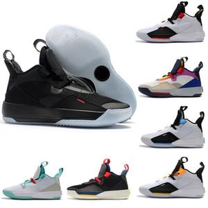 Скидка новый Jumpman XXXIII 33 мужская баскетбольная обувь высокого качества 33s разноцветные черный белый зеленый желтый кроссовки Кроссовки размер 40-46