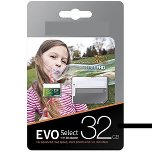 Best selling Real Capacity 32GB 16GB EVO Select MicroSD UHS-I Card Class 10 U1 Micro SD TF Memory Card with Adapter Faster Speeds