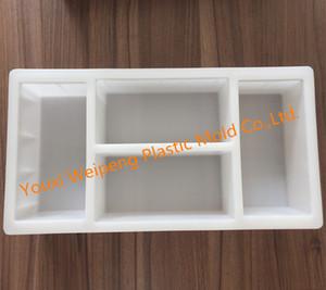 Moldes de plástico de moldes de ladrillo de cemento (MZ196-196-96) para la construcción de edificios