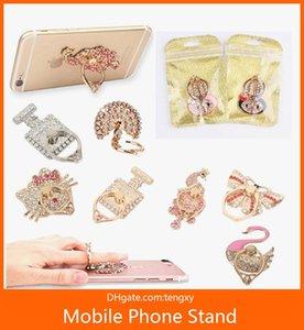 패션 다이아몬드 금속 반지 휴대 전화 홀더 독특한 믹스 스타일 휴대폰 홀더 아이폰에 대 한 패션 삼성 S8 핸드폰 스탠드