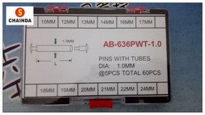 Free Shipping 1 Set Clasp Repair Pin Pressure Bar & Rivet Set 1.0mm 10-24mm 12 Sizes