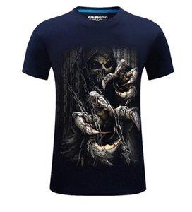 T-shirt de haute qualité, Nouvelle Europe et aux États-Unis, hommes de mode 3D dominateurs stéréo stéréo à manches rondes - ghost claws men t-shirt