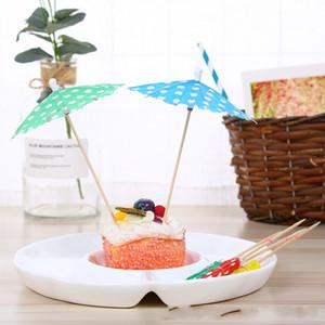 Party Sticks Paper Parasol Paraguas Niños Small Art Toothpick Paper Floral Prod Cocktail Decorar Desechable 0 07cy gg