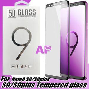 Pour Samsung Galaxy S20 Ultra S10 S9 Note 10 9 8 S8 plus Bord PARFAITEMENT en verre trempé Protections d'écran Film