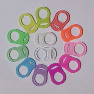 Silikon Halka Düğmesi Tarzı Emzik Adaptörü Şerit Klipler Mam Nipel Yüzükler Bebek Malzemeleri Için Çok Renkler Emzikler 0 8 tb ii