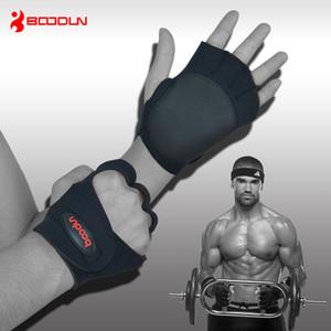 Uomini di marca Donne Palestra Groves Antiskid Hollow Manubri Barbell Guanti Body Building Training Sport Fitness Guanti per sollevamento pesi