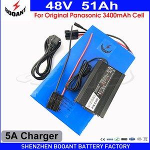 BOOANT Batterie eBike 48V 50Ah Pour Bafang Moteur 2000W 3000W 4000W Batterie Au Lithium Pack 48V + 5A Chargeur Pour Cellule Originale 18650