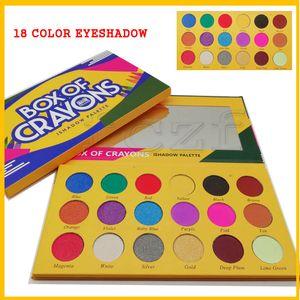 Paleta de maquiagem 2018! BOX OF CRAYONS Paleta de Sombras Cosméticos 18 Cores iSHADOW Paleta Shimmer Matte EYE beleza