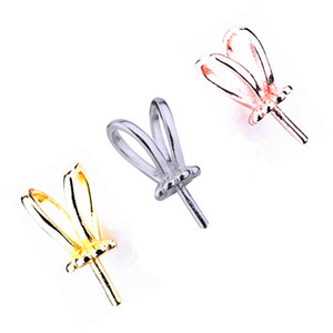 5pcs lot 925 Sterling Silver Women Pendant Clasp 8-12mm Pearl or Round Bead Semi Mount Pendant DIY Stone Pendant Setting