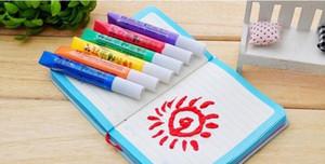 6pcs / set, stylo magique pour les enfants Popcorn bricolage Dessin, Multi Function Bubble Art Marker Pen