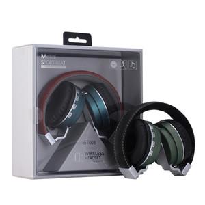 BT008 BT-008 Casque sans fil Écouteur Universel Bluetooth pliable HIFI Micro Carte mémoire FM Sans fil avec fil Bluetooth DHL