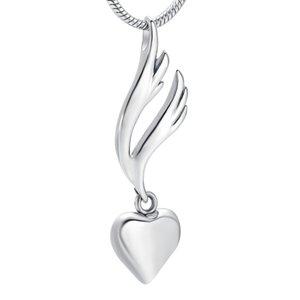 IJD9950 My Angel My Heart Einäscherung Urn Anhänger für Frauen Engravable Edelstahl Memorial Locket Schmuck Halskette für Ashes